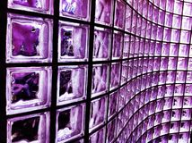Purple Glass Block. Created in a wave pattern.  Perfect for texture, background, or as a design element Royalty Free Stock Image