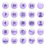 Purple Glass Buttons. Buttons for use on a website Vector Illustration
