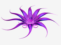 Purple glass flower on white background. 3D rendered purple glass flower on white background Royalty Free Stock Images