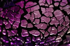 Purple glass fragments Stock Photo