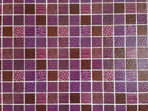 Purple glass mosaic Stock Image
