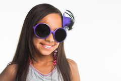 Purple glasses Royalty Free Stock Photography