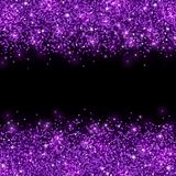 Purple glitter scattered on black background. Vector Stock Photos