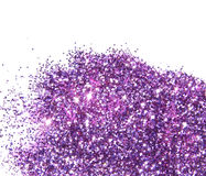 Purple glitter sparkle on white background Stock Images