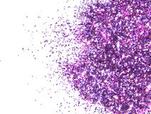 Purple glitter sparkle on white background Royalty Free Stock Images