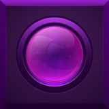 Purple glossy button Royalty Free Stock Photo