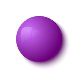 Purple glossy button Royalty Free Stock Photos