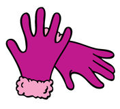 Purple Gloves Cartoon Stock Photos