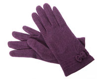 Purple gloves Stock Photography