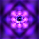Purple glowing atom Stock Images