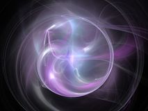 Purple glowing fractal circle Stock Images