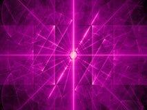 Purple glowing laser beams background Royalty Free Stock Photo