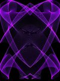 Purple Glowing Lines on Black royalty free illustration