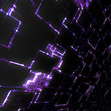 Purple glowing techno background Royalty Free Stock Photos