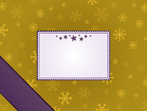 Purple and gold christmas frame stock illustration