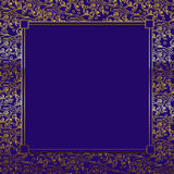 Purple/Gold Decorative Background. Square purple/gold decorative background with matching purple insert available for text Stock Images