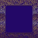 Purple/Gold Decorative Background Stock Images