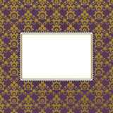 Purple and gold frame Stock Photo