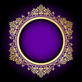 Purple & gold frame Stock Image