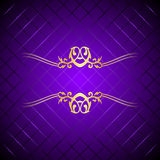 Purple & gold luxury background Royalty Free Stock Photo