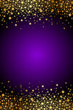 Purple and gold luxury background Stock Images