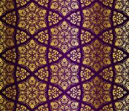 Purple and gold seamless arabesque Stock Photo