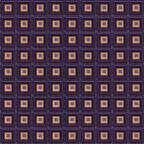 Purple Gold Techno Seamless Stock Photo