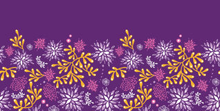 Purple and gold underwater plants horizontal Royalty Free Stock Photo