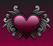 Purple gothic heart design Royalty Free Stock Images