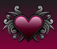 Purple gothic heart design stock illustration