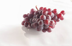 Purple grape. Bunch of purple grapes on a white background Royalty Free Stock Photo