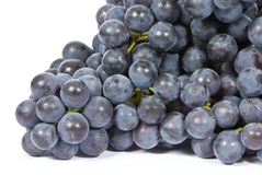 Purple Grapes Isolated on White Stock Images