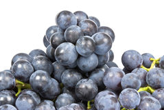 Purple Grapes Isolated on White Royalty Free Stock Photos