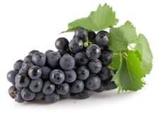 Purple grapes isolated on a white background Stock Images