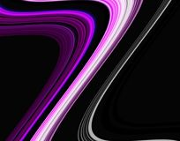 Purple Gray Dark Pink Geometries Phosphorescent Yellow Blue Red Soft Forms, Hues, Forms On Vivid Abstract Background Royalty Free Stock Photo