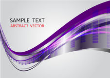 Purple and gray wave vector background Royalty Free Stock Photography