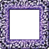 Purple gray white decorative digitally rendered frame Royalty Free Stock Image