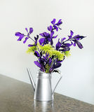 Purple and gree flowers Stock Photo