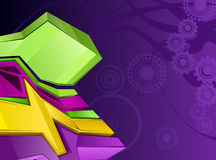 Purple and green background. A purple and green background design with gears Stock Photo