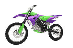 Purple Green Bike Royalty Free Stock Photography