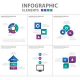 Purple green blue Infographic elements icon presentation template flat design set for advertising marketing brochure flyer Stock Photos