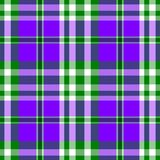 Purple green check diamond tartan plaid fabric seamless pattern Royalty Free Stock Photo
