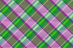 Purple green color check fabric texture seamless pattern. Vector illustration royalty free illustration