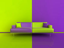 Purple/Green Contrast Interior Royalty Free Stock Photo