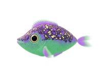 Purple green fish Stock Images