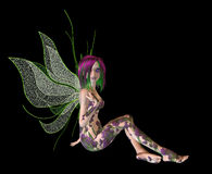 Purple Green Flower Fairy Stock Images