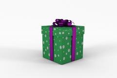 Purple and green gift box Stock Photo