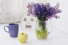 Purple and green morning Royalty Free Stock Photo