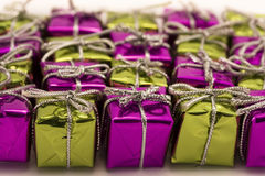 Purple and green parcel background Stock Image