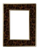 Brown Leopard Print Photo Frame  Stock Photo